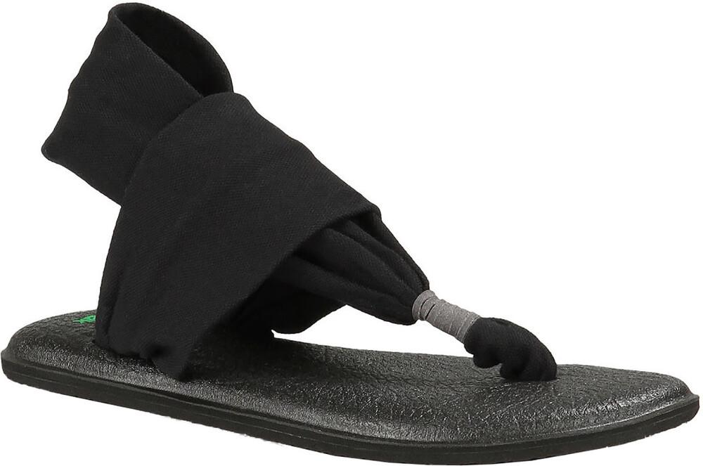 Femmes Sanuk Yoga Fronde # 2 Lanières - Noir (noir), Taille: 38